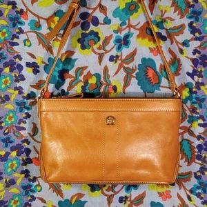 Etienne Aigner camel color leather shoulder bag